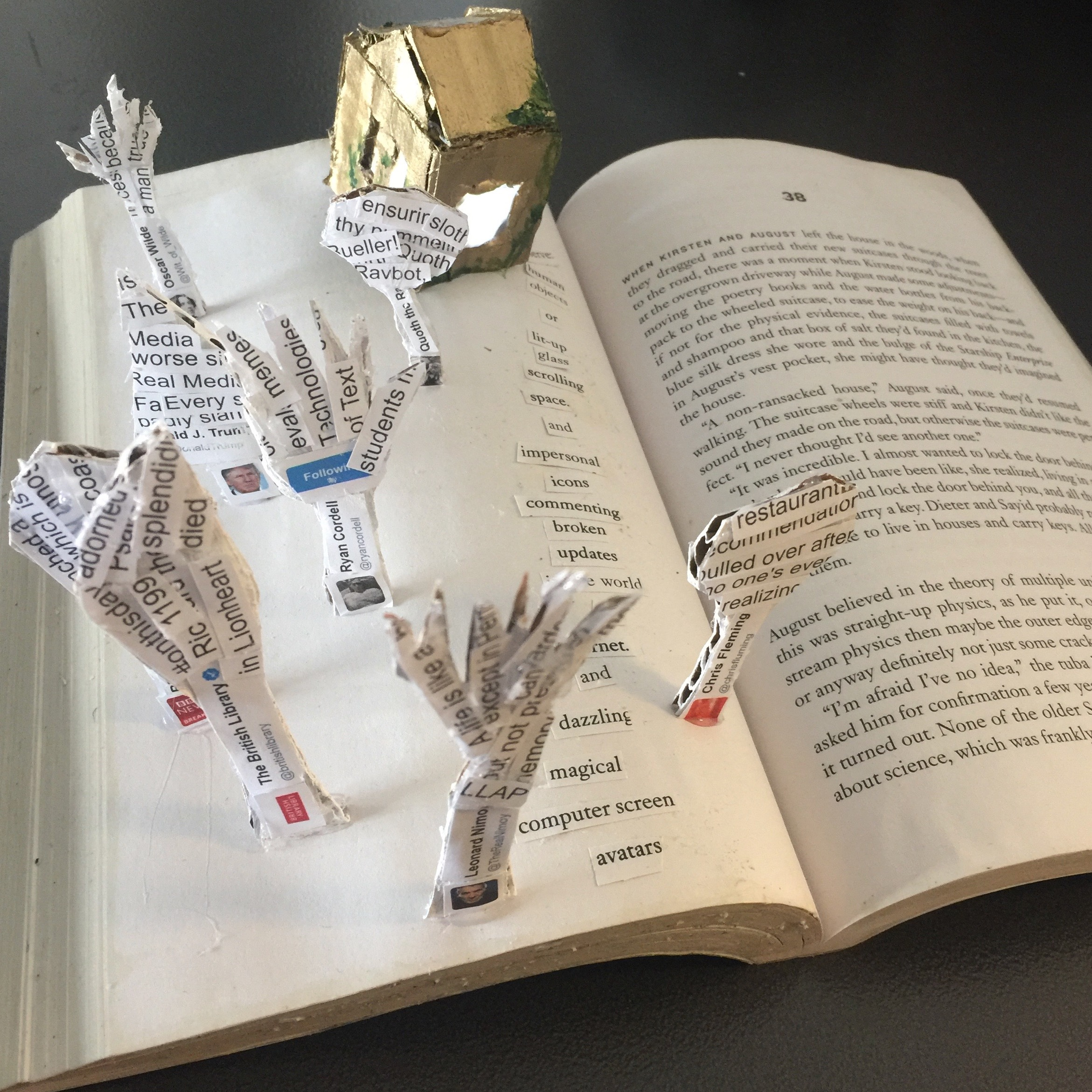 An altered book project by a former ToT student.